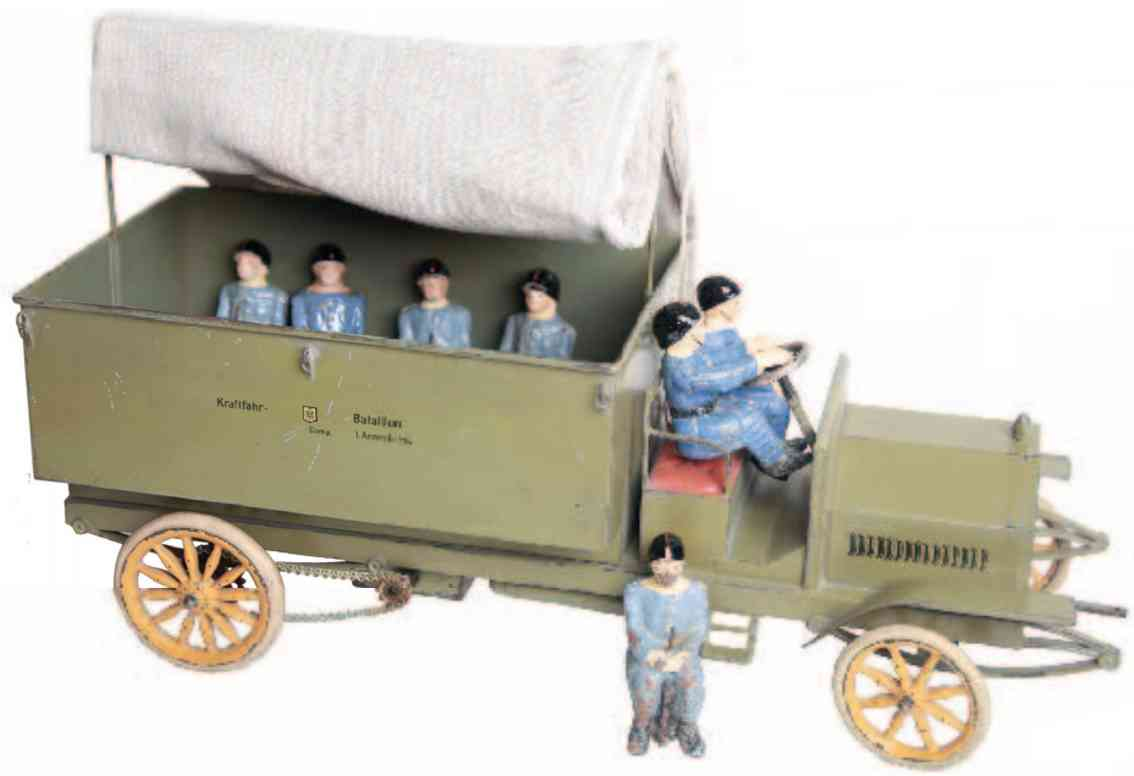 marklin maerklin 8838/2 military toy car military truck with clockwork