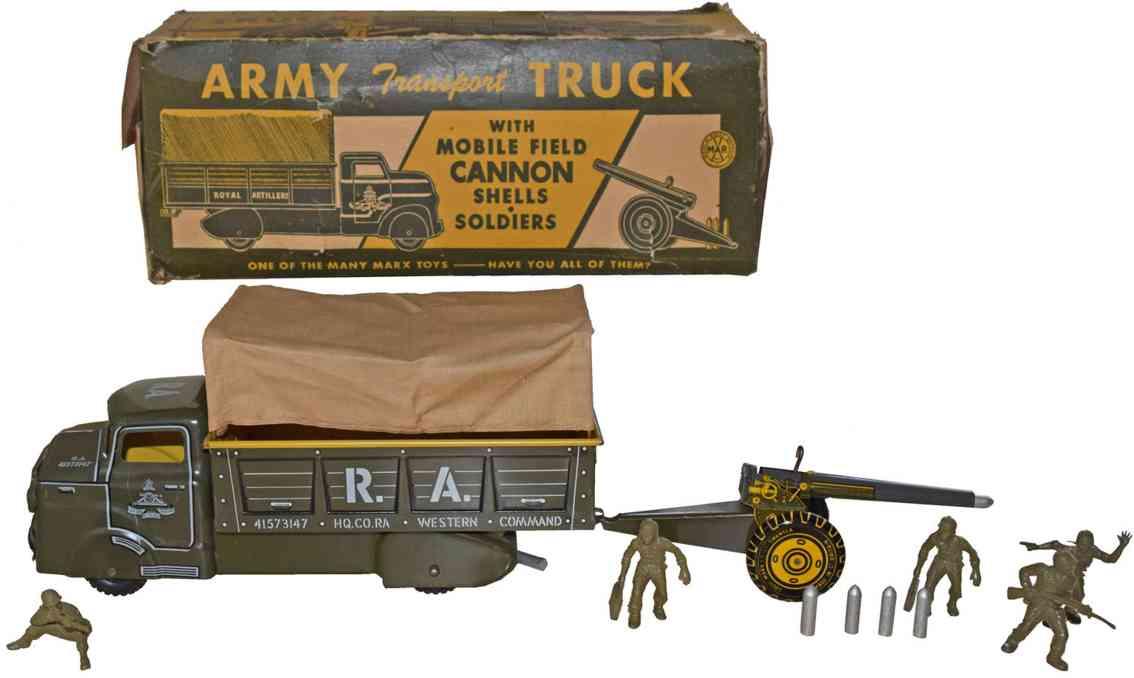 marx louis armee transportwagen faldkanone granaten soldaten