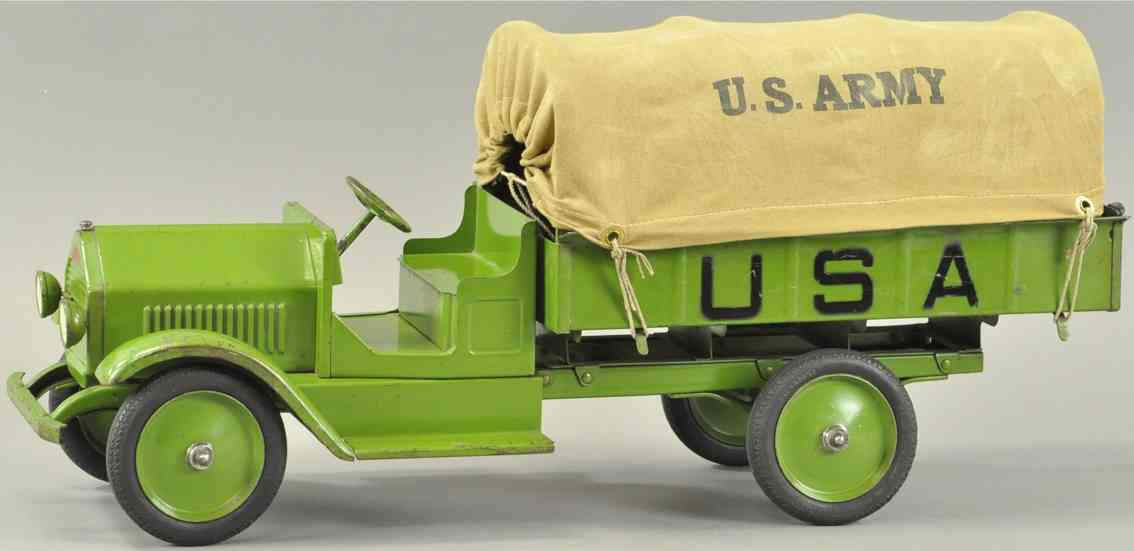 sturditoy military toy us army truck green canvas