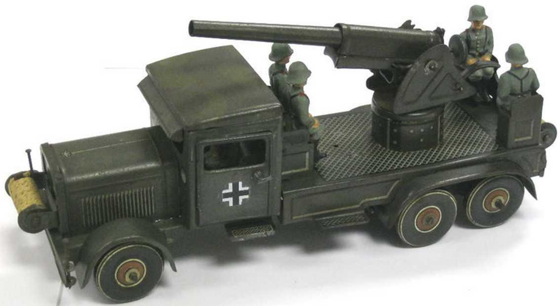 tippco 176e militaer spielzeug fliegerabwehrauto uhrwerk