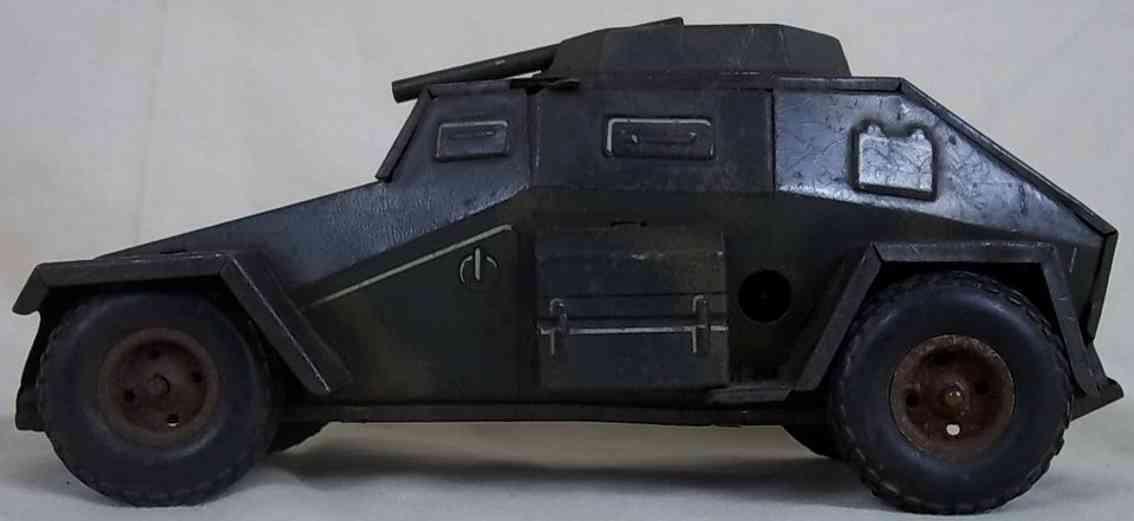 tippco wh 194 militaer spielzeug auto panzer-spaehwagen mit uhrwerk