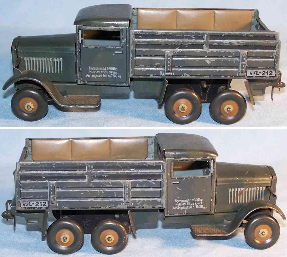 tippco wl 212 spielzeug auto militaerlastwagen