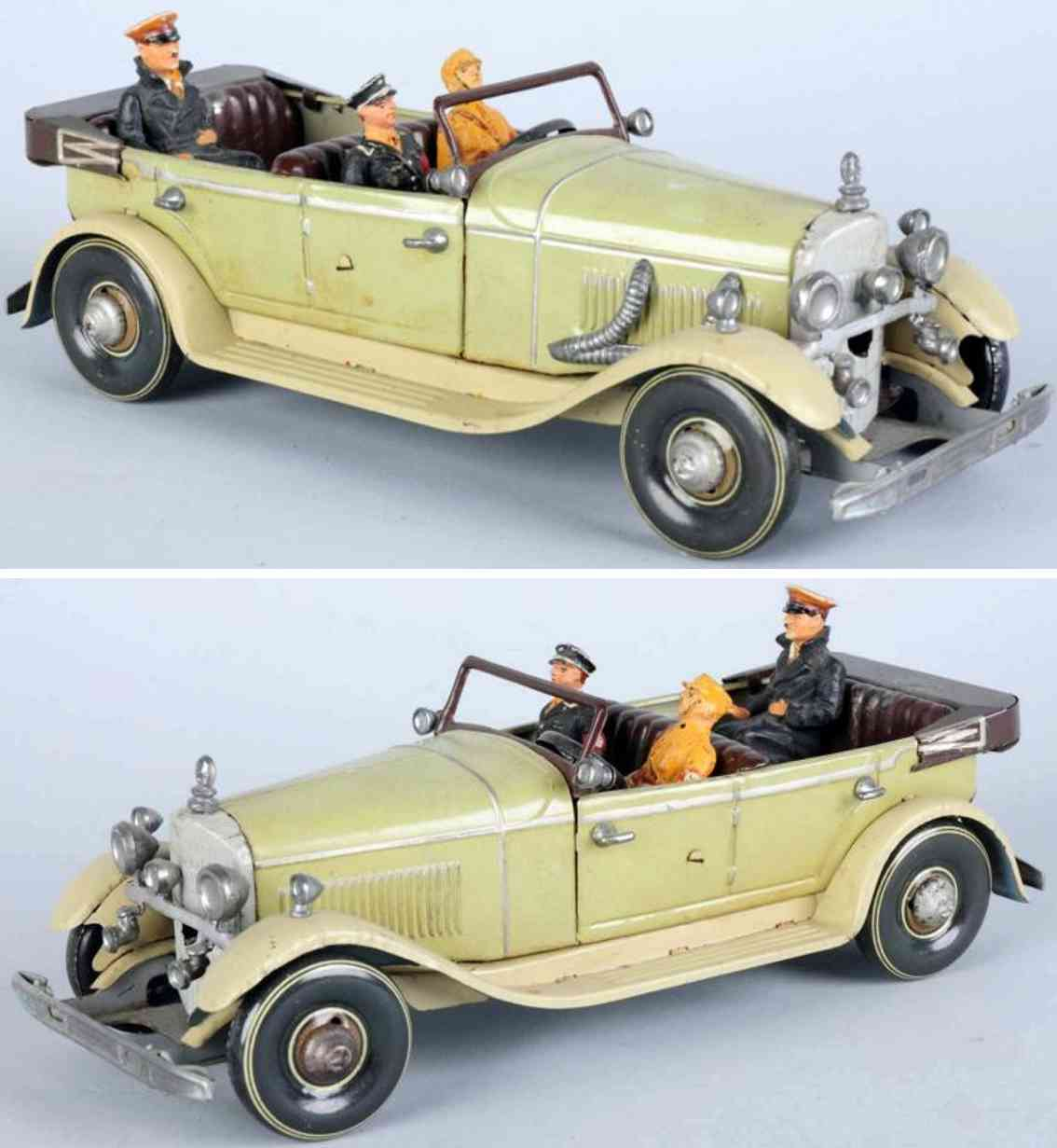 tippco 934 military toy car tan version mercedes with hitler