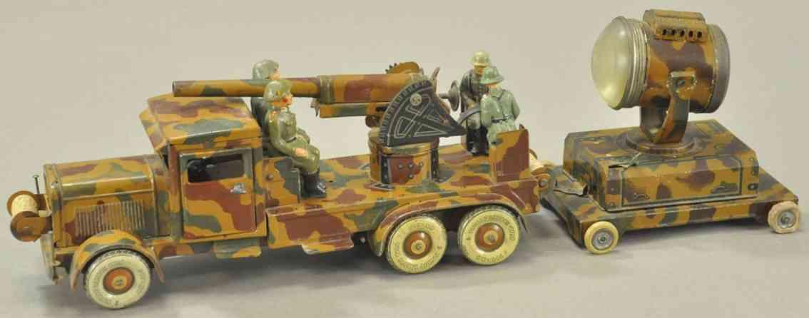 tippco militaer spielzeug flugabwehrlastwagen mit suchscheinwerfer