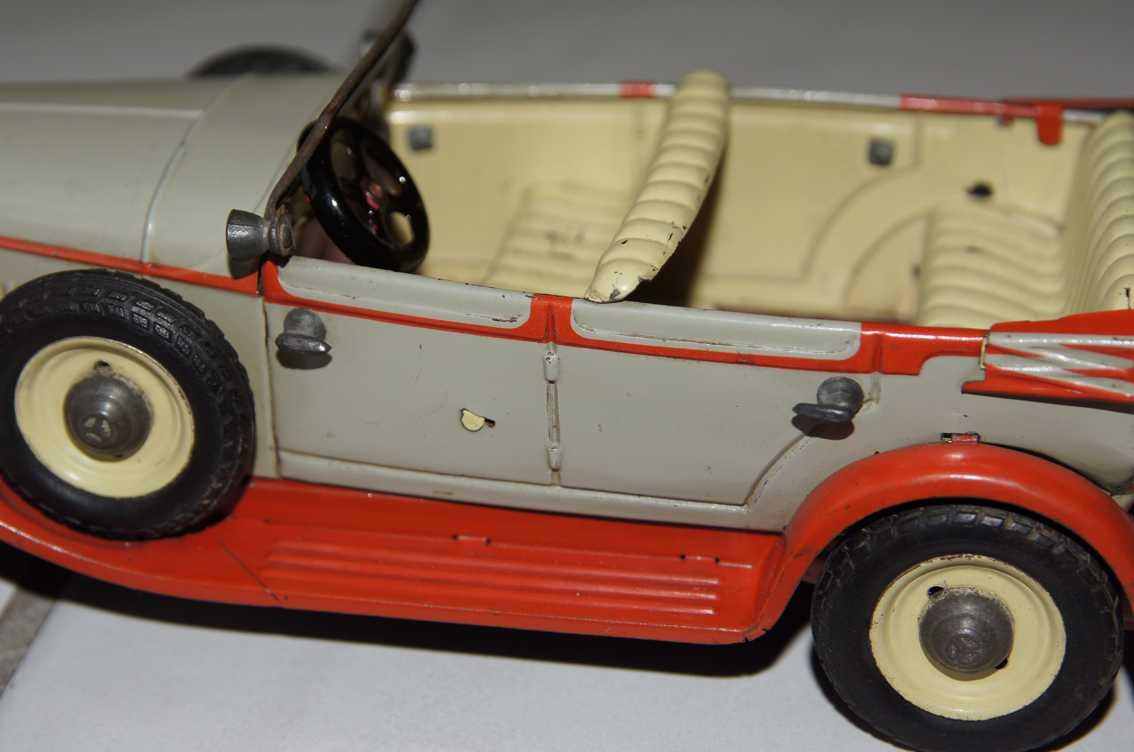 Tippco Führerwagen in grau rot