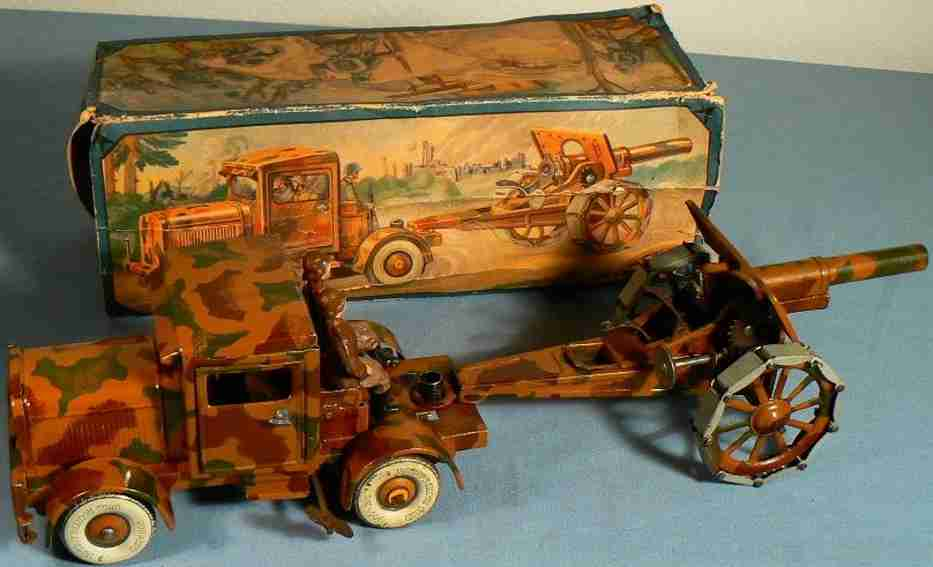 tippco military toy car tractor with cannon