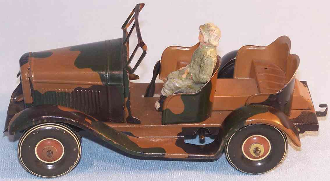 tippco military toy car wehrmacht car with driver mimikry spraying