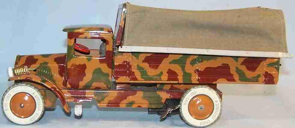 tippco 190/7 militaer spielzeug lastwagen mannschaftswagen mimikry uhrwerk