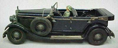 Tippco Mercedes mitternachtsschwarz mit Uhrwerkantrieb