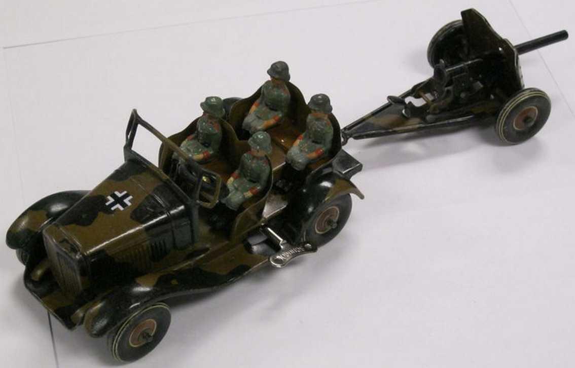 Tippco 162/174 Wehrmacht-Dienstauto mit 4 deutschen Soldaten