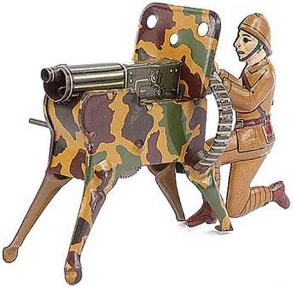 Arnold Soldat mit Maschinengewehr aus Blech