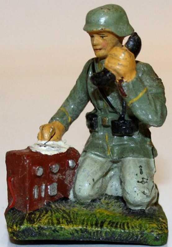 hausser elastolin 659/13 militaer spielzeug nachrichtentruppe fernmelder telefon