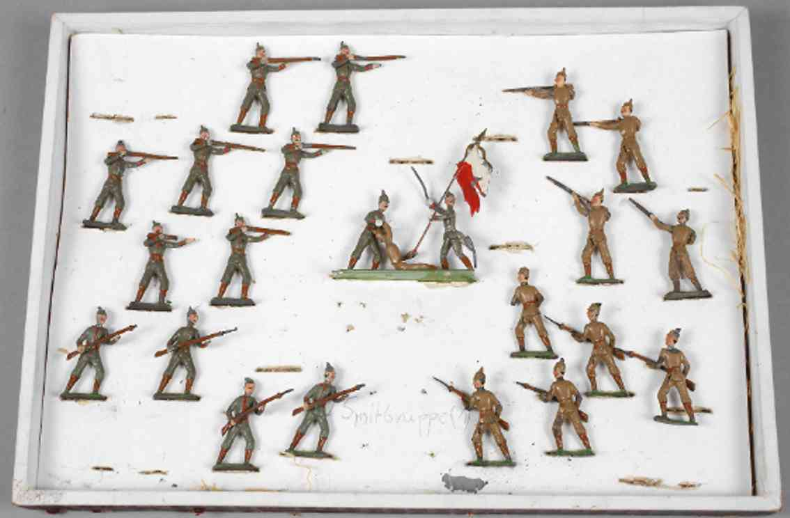 heyde 1020 military toy 20 pewter figures german english battle