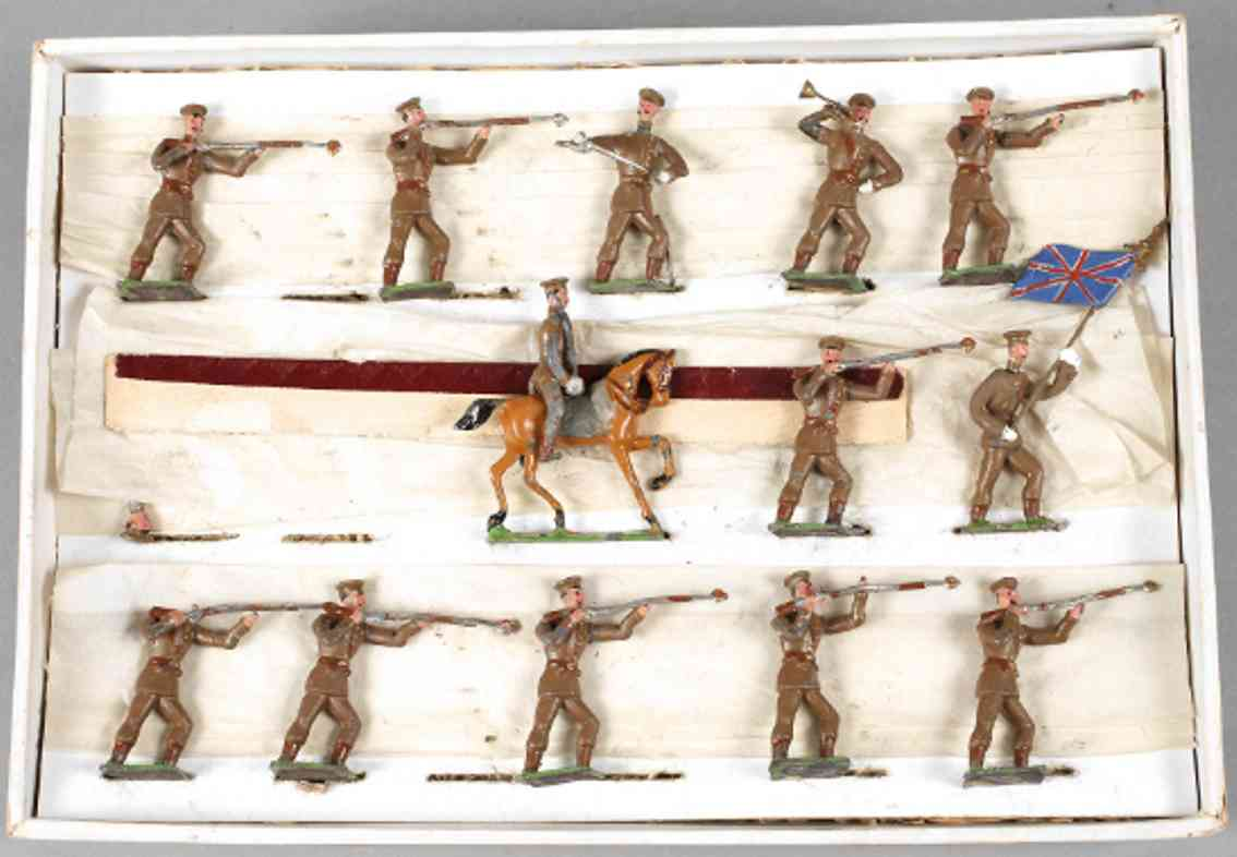 heyde 168 military toy pewter figures english infantry fire
