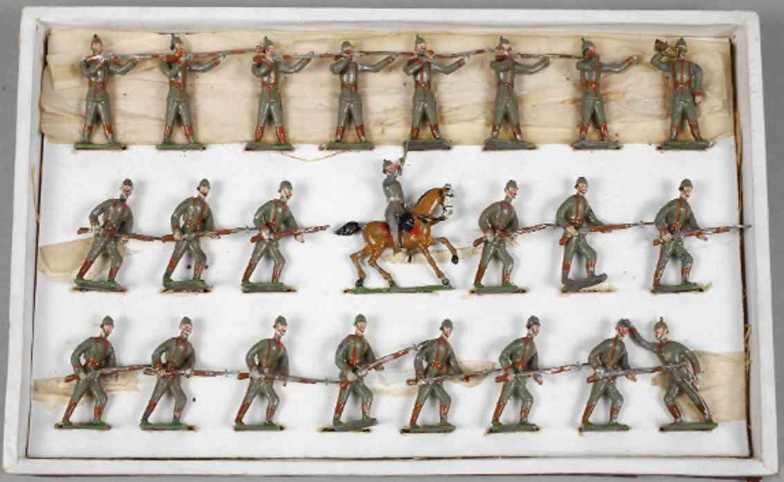 heyde 169 militaer spielzeug figur zinnsoldaten preuss linie marsch trompeter