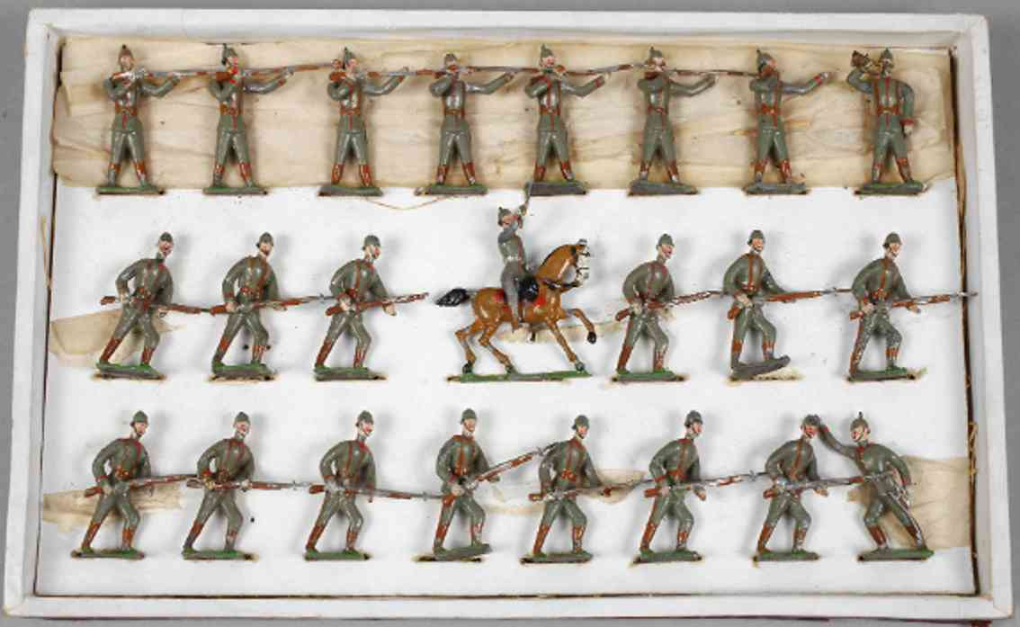 heyde 169 military toy figure pewterware soldiers preuss line march zinn trumpeter
