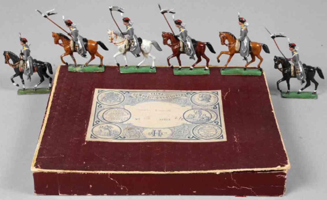 heyde 89 mililtaer spielzeug figur zinnfiguren  #89 preuss. Husaren sechs reiter pferde