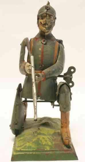 unknown militaer spielzeug figur deutscher soldat aus dem 1. weltkrieg handbemalt, höhe wenn