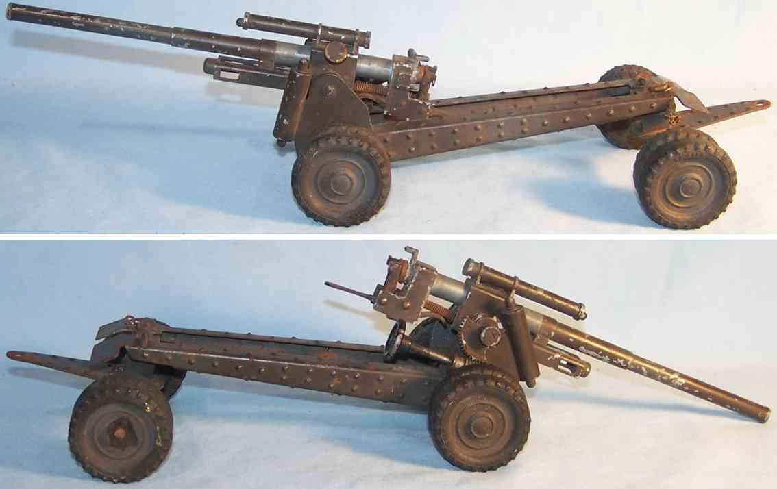 hausser elastolin 88 military toy large flak made of tin