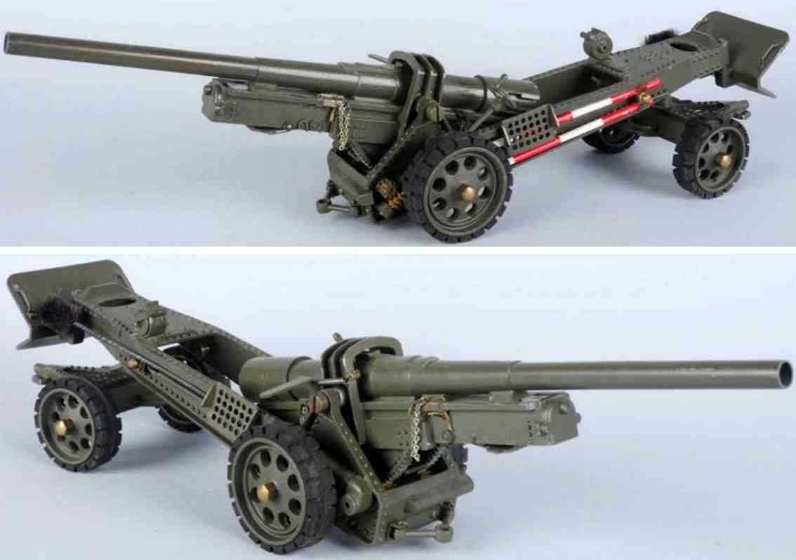 hausser elastolin militaer spielzeug schwere feldhaubitze grosse kanone
