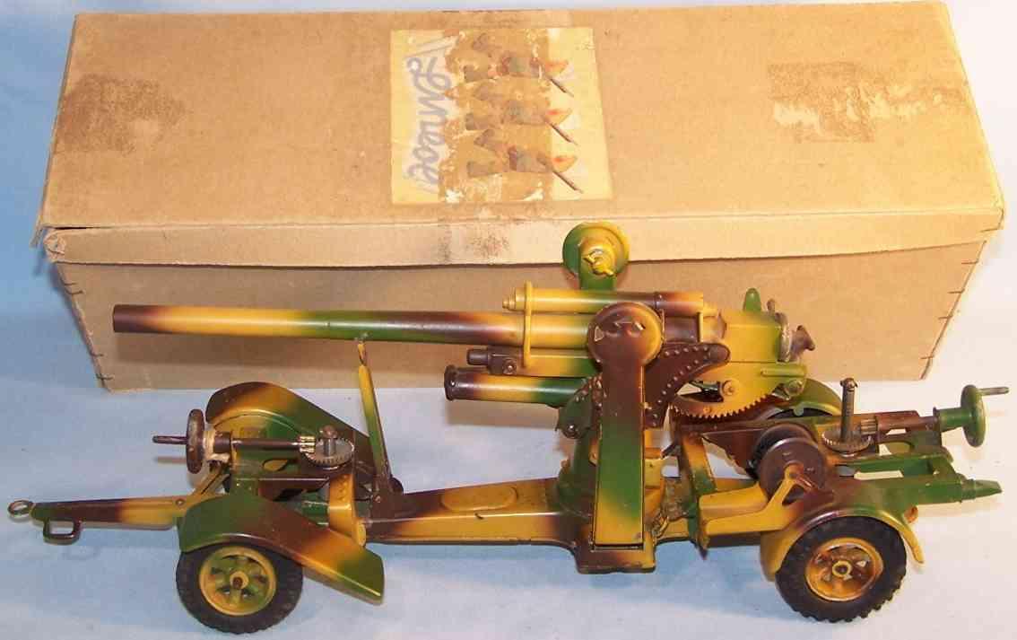 lineol 1230 militaer spielzeug fahrbare flak-artillerie