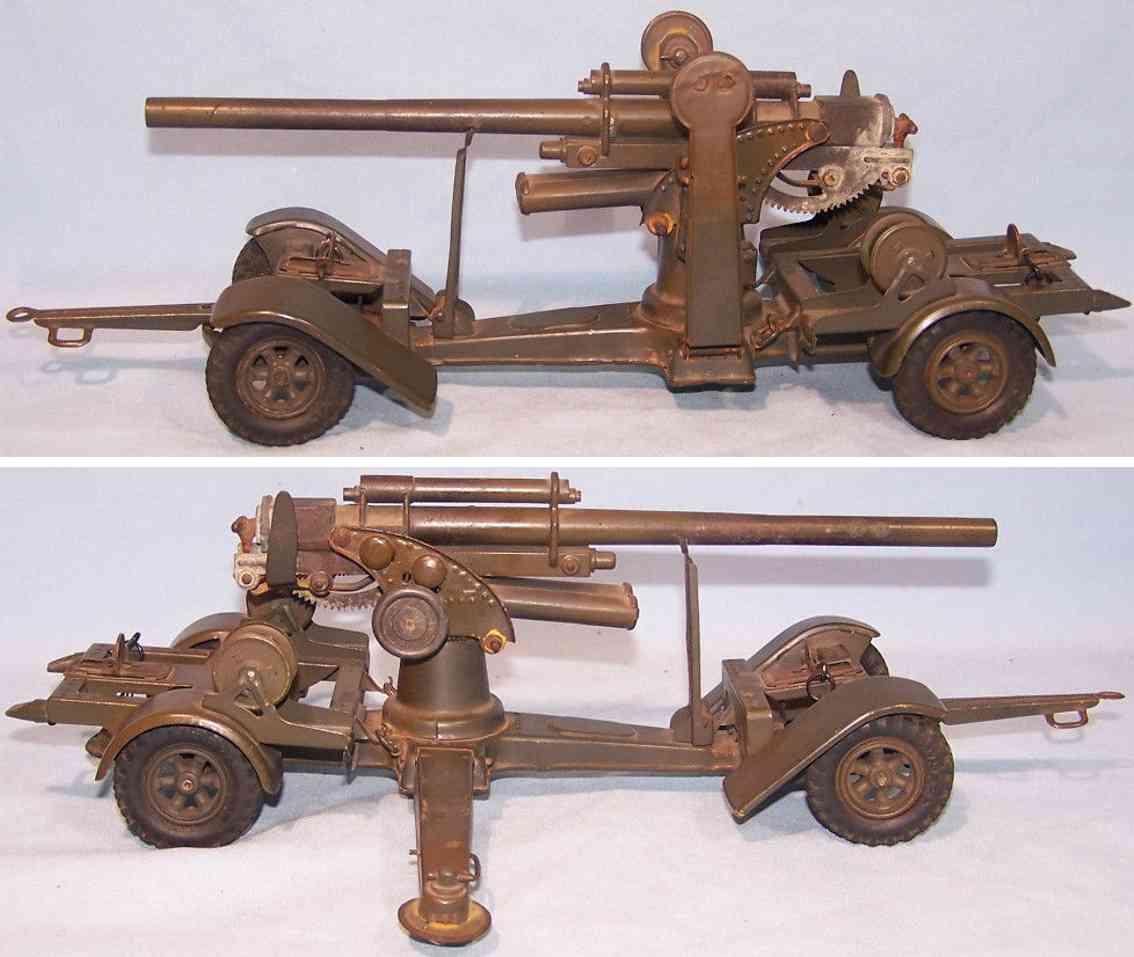 lineol 88 military toy gun tin cast green