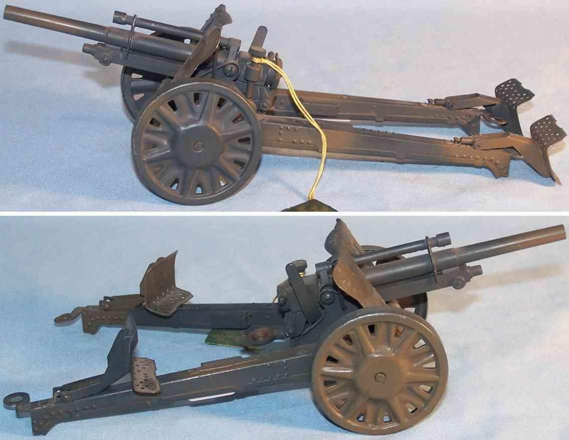 lineol military toy antiaircraft gun