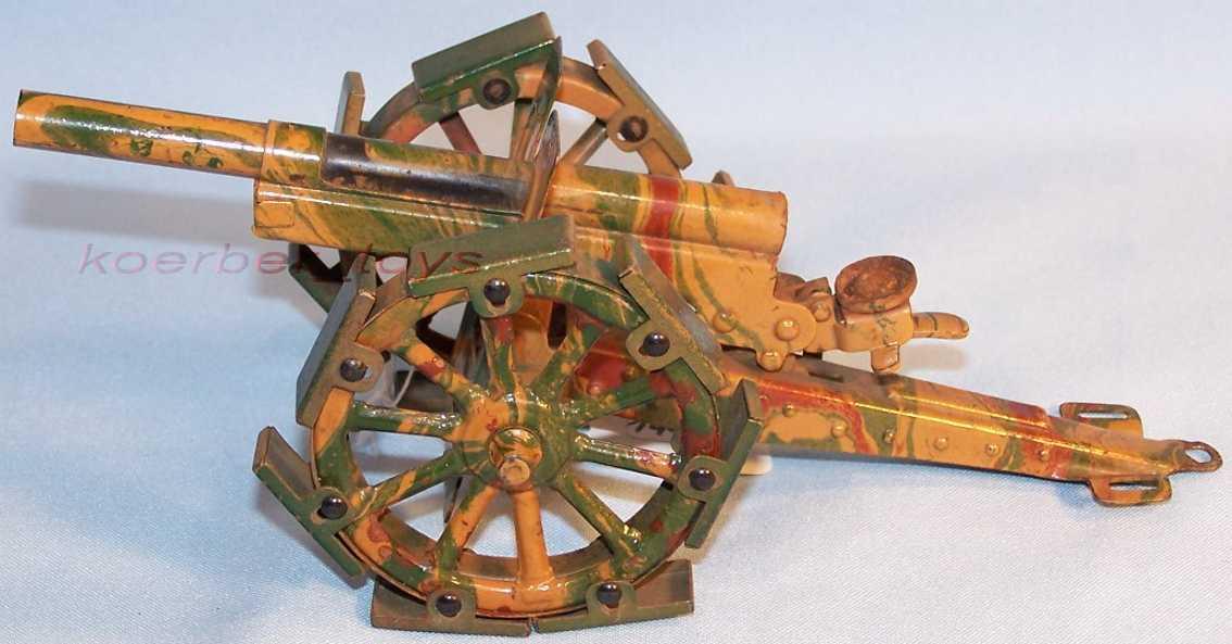 marklin military toy arm field gun with feather train