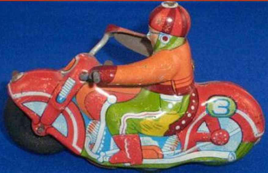 Alps Motorrad Blechmotorradfahrer mit Friktionsantrieb
