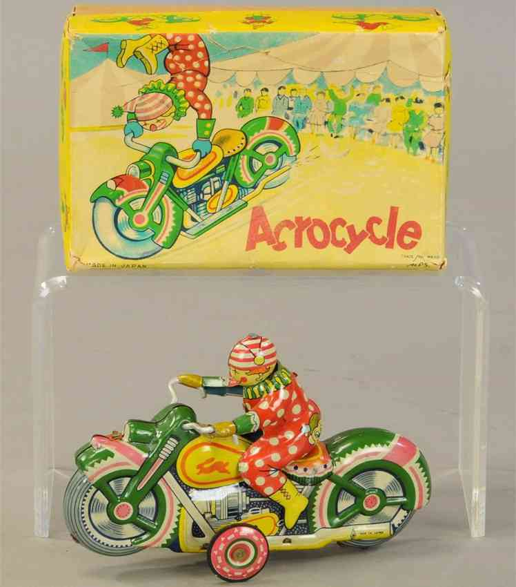 Alps Acrocyle Clown mit Motorrad