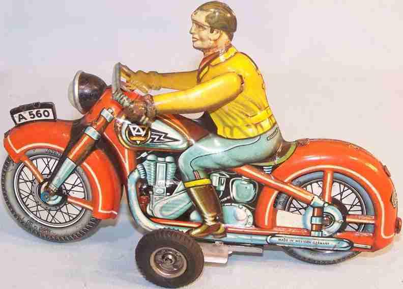 arnold 560 blech spielzeug motorrad mit schwungradantrieb