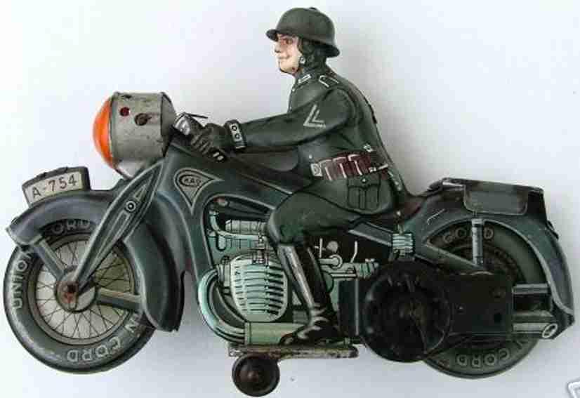 arnold a754 militaer spielzeug motorradfahrer uhrwerk soldat gewehr