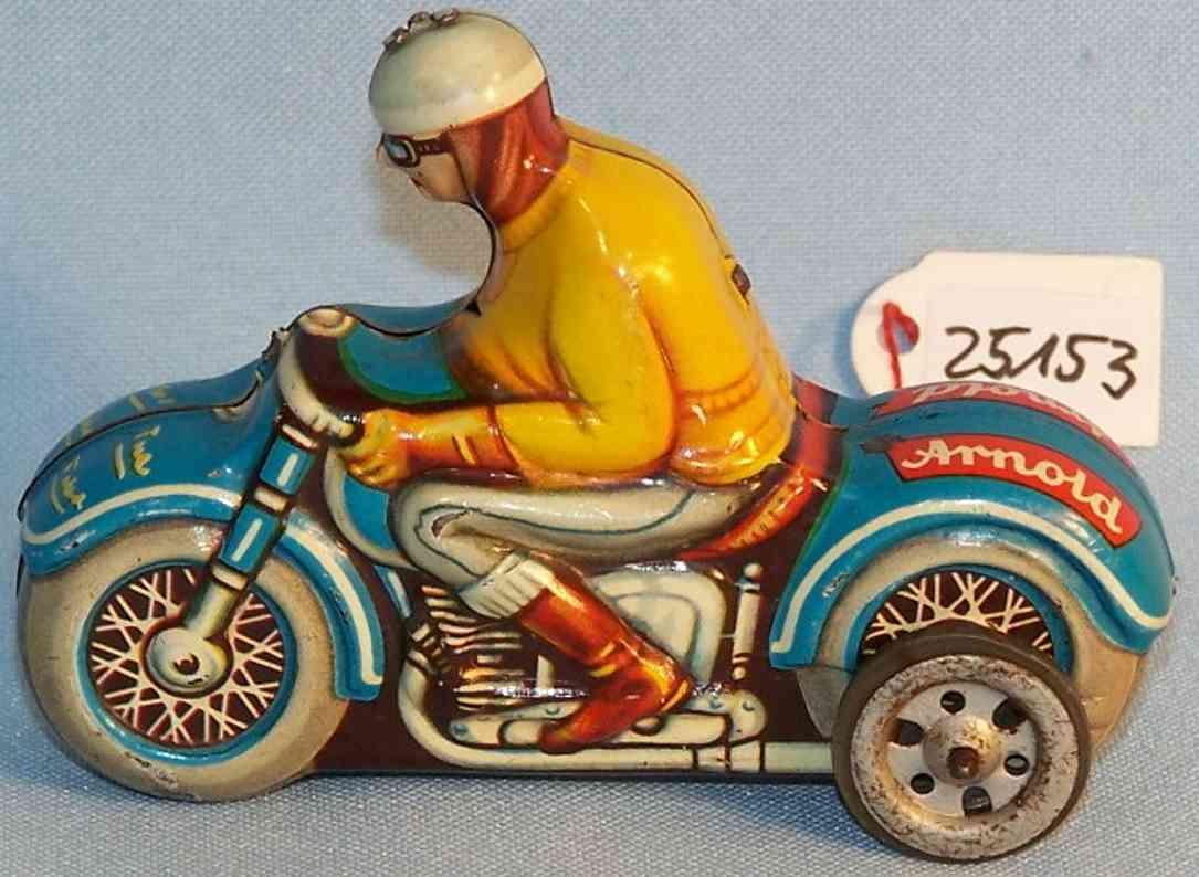 Arnold Motorradfahrer aus Blech mit Schwungradantrieb