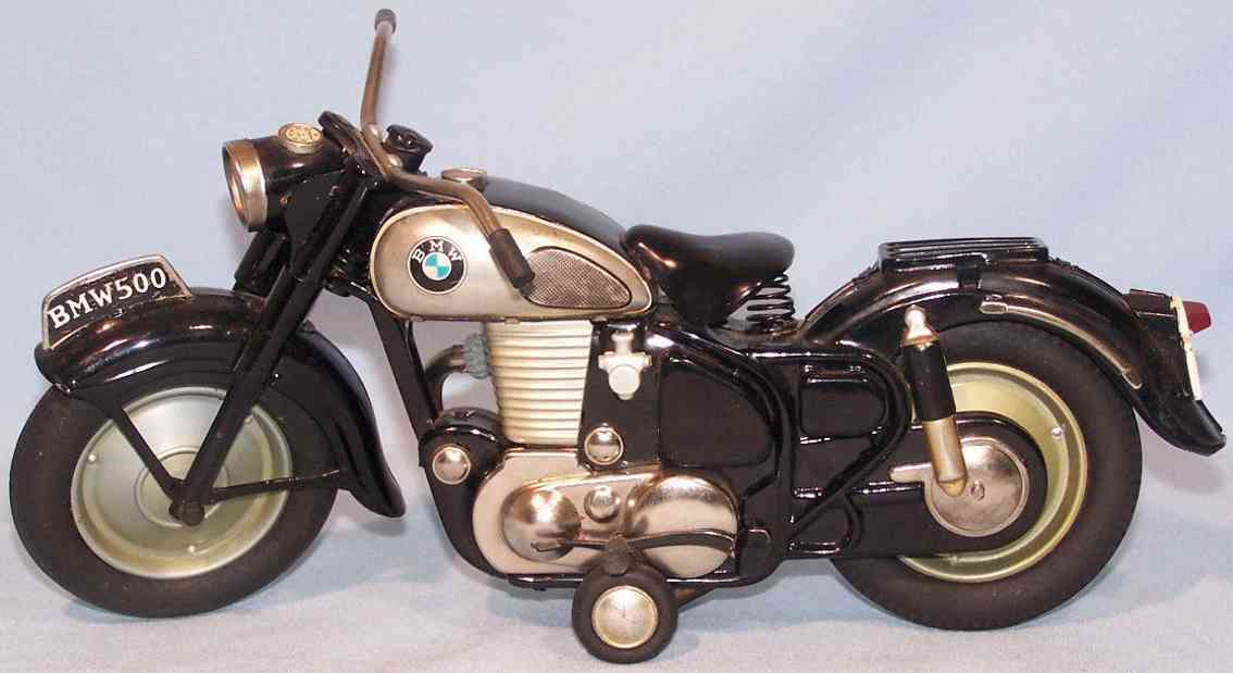 bandai tin toy bmw 500 motorcycle friction drive