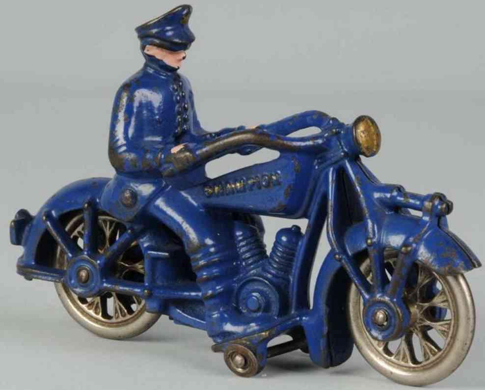 champion hardware company gusseisen motorradfahrer dunkelblau