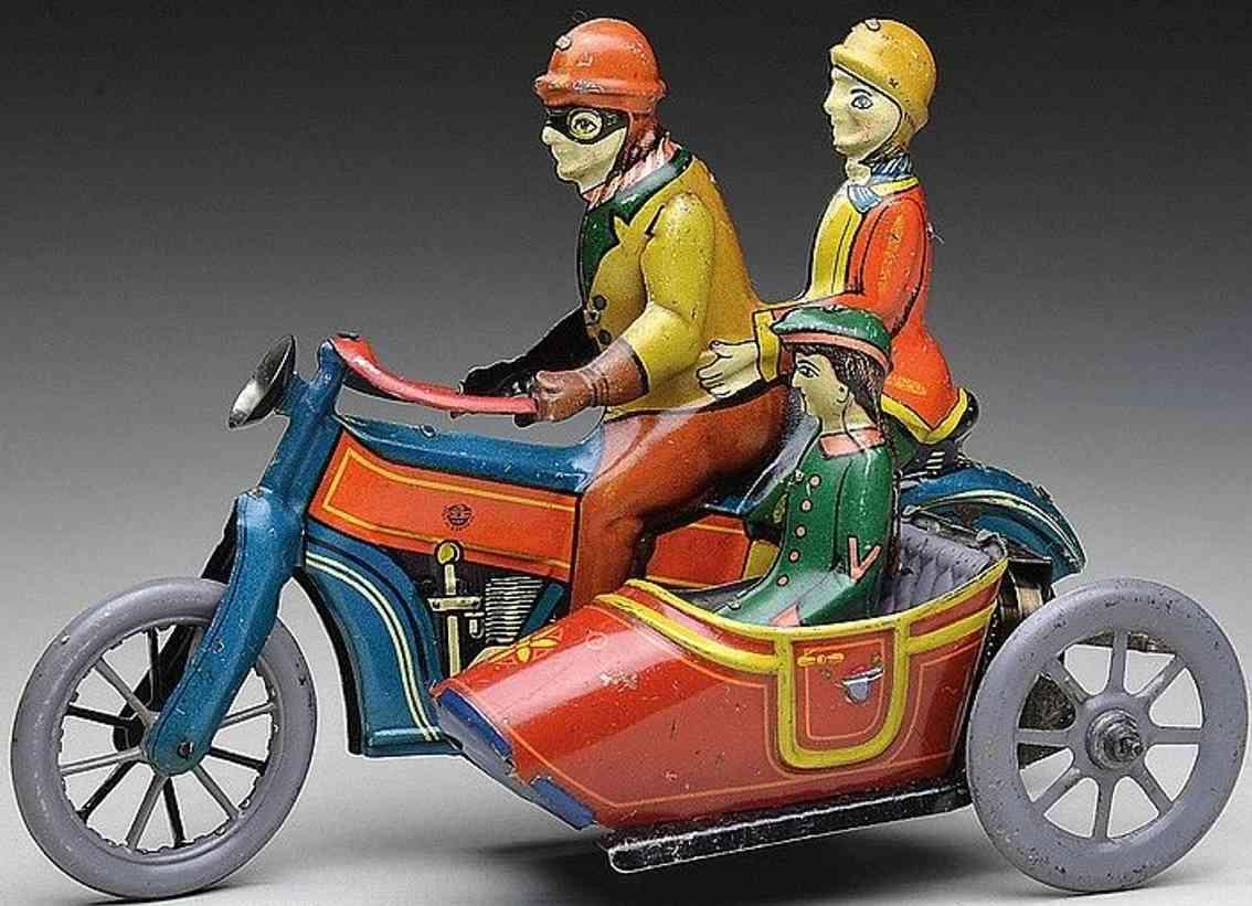 distler johann 584 tin toy motorcycle tin motorcycle with sidecar