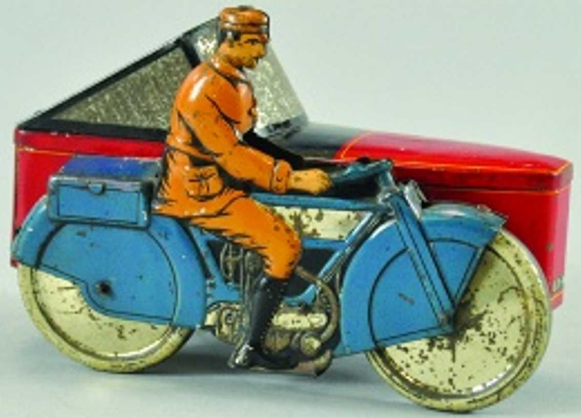 Dunns Gray Motorrad Porzellan Blech