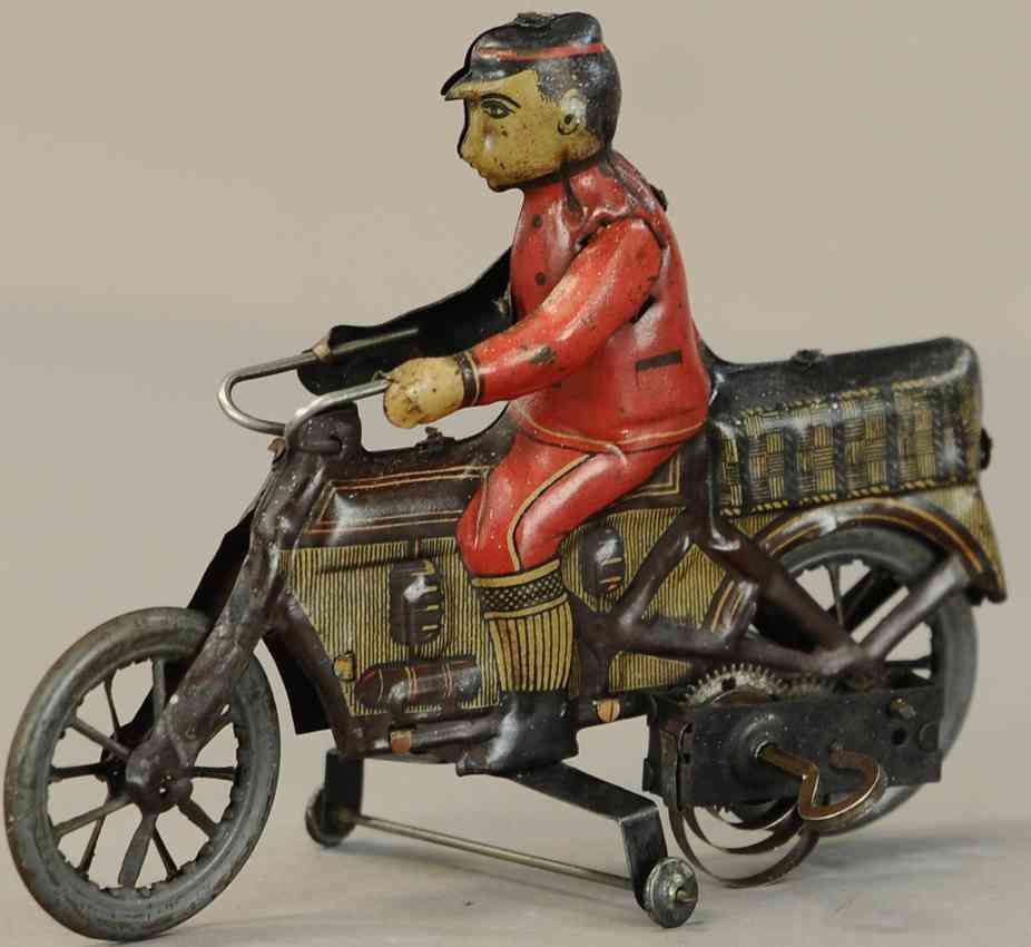 fischer georg tin motorcycle wind-up toy