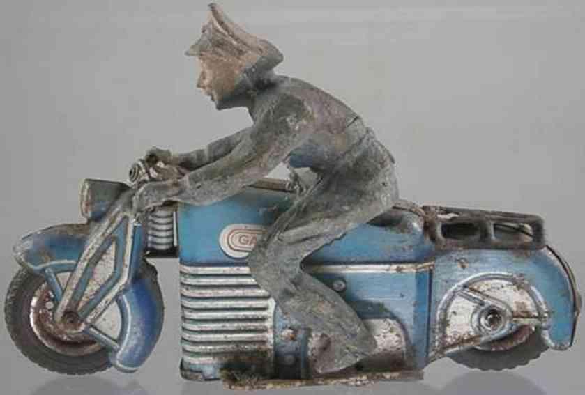 gama 126 polizei motorrad blau