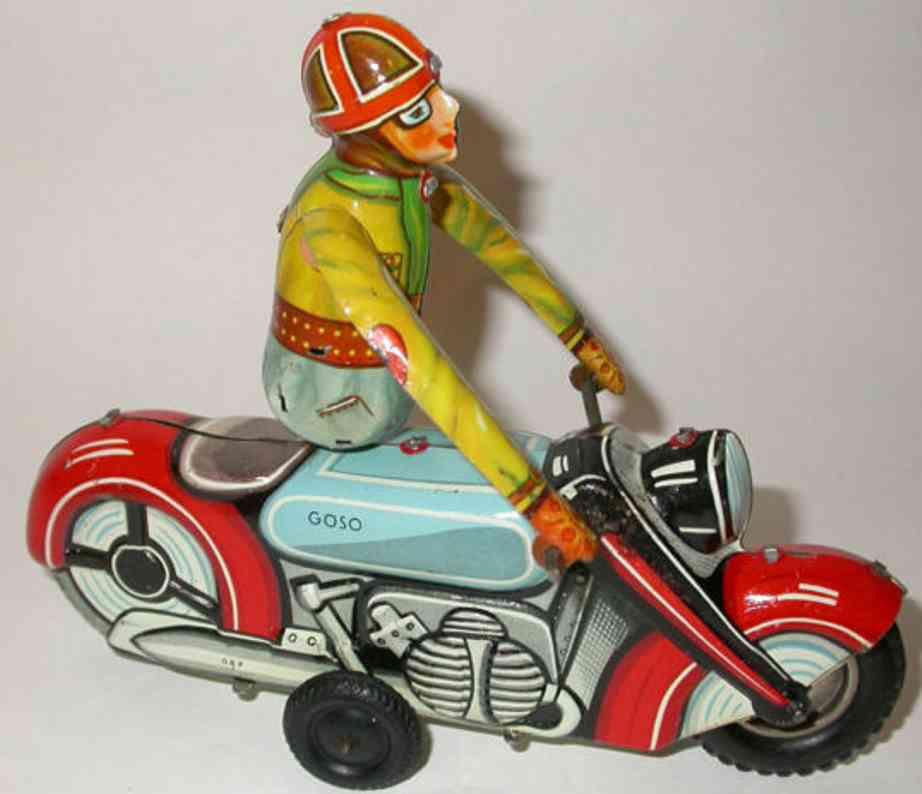goeso blech spielzeug motorrad akrobat uhrwerk