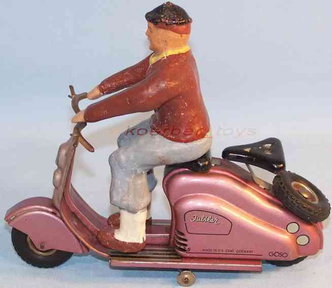 goeso blech spielzeug lambretta motorroller uhrwerk pink