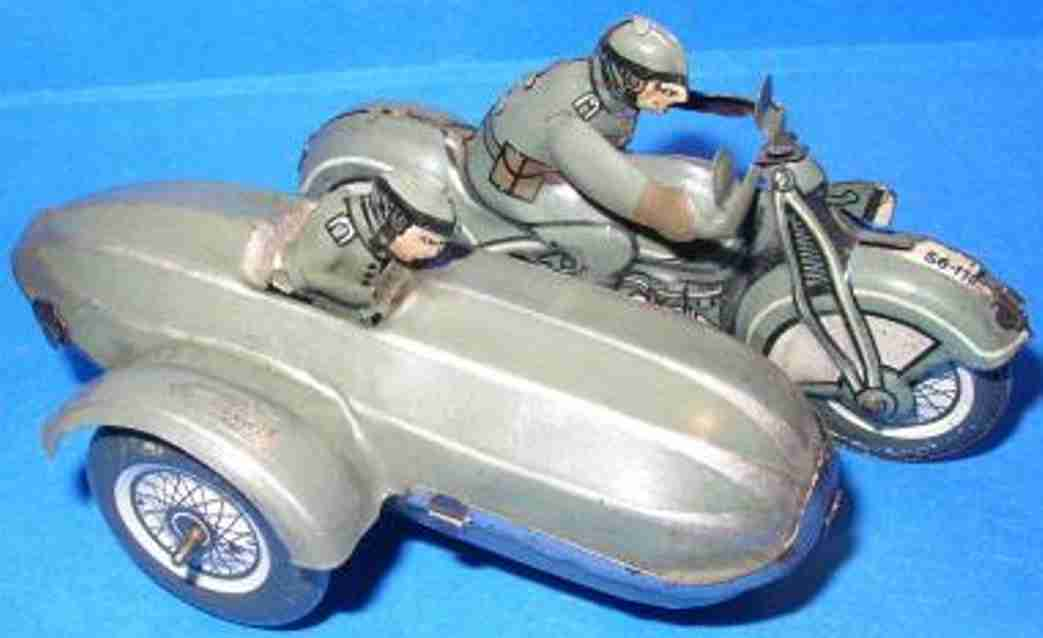 Guenthermann Motorcycles Sheet motorcycle with side-car and clockwork