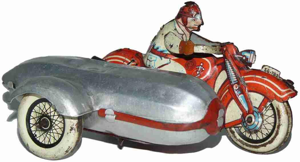 Günthermann SG-792 Touring Motorrad mit Seitenwagen und Uhrerk