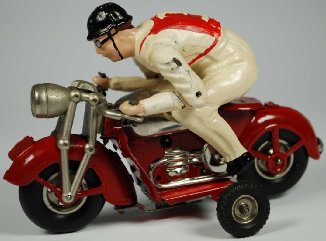 Günthermann Motorradfahrer mit Uhrwerk