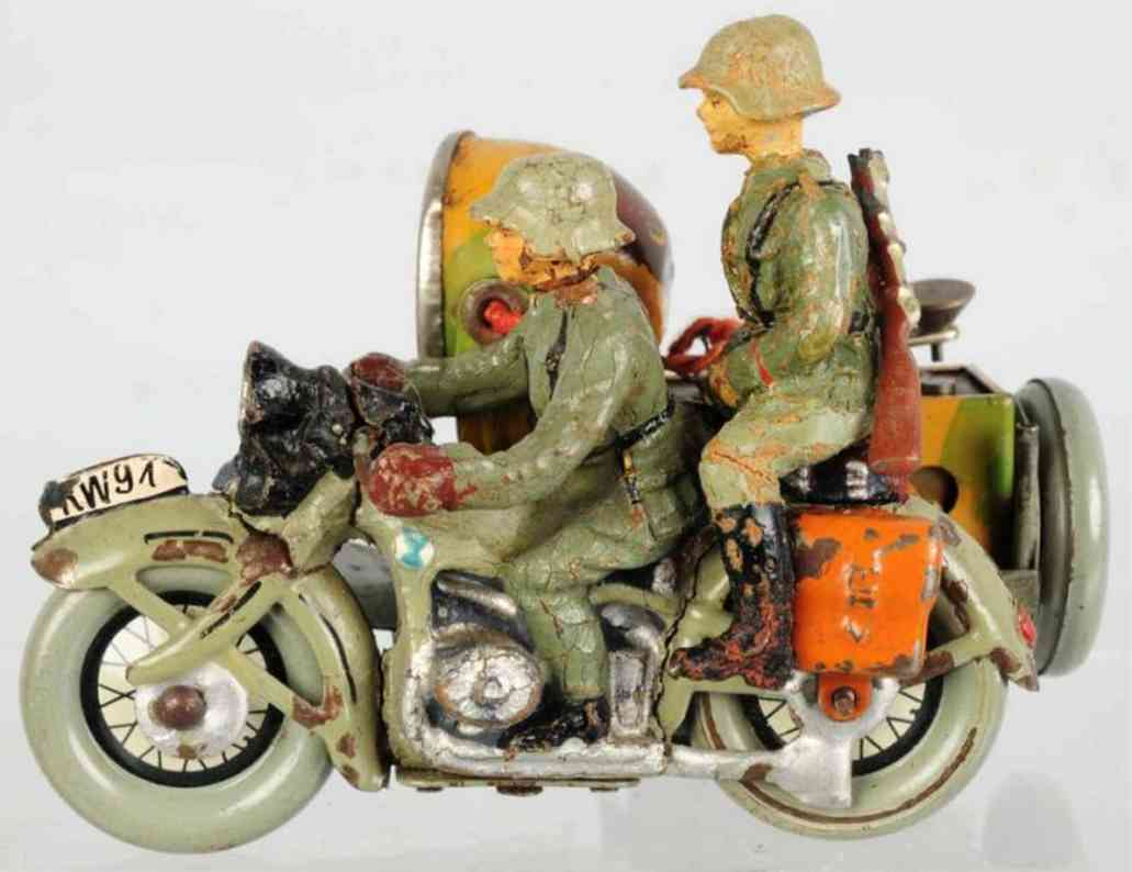 hausser elastolin kw 91 spielzeug militaermotorrad der deutschen wehrmacht mit scheinwerfer