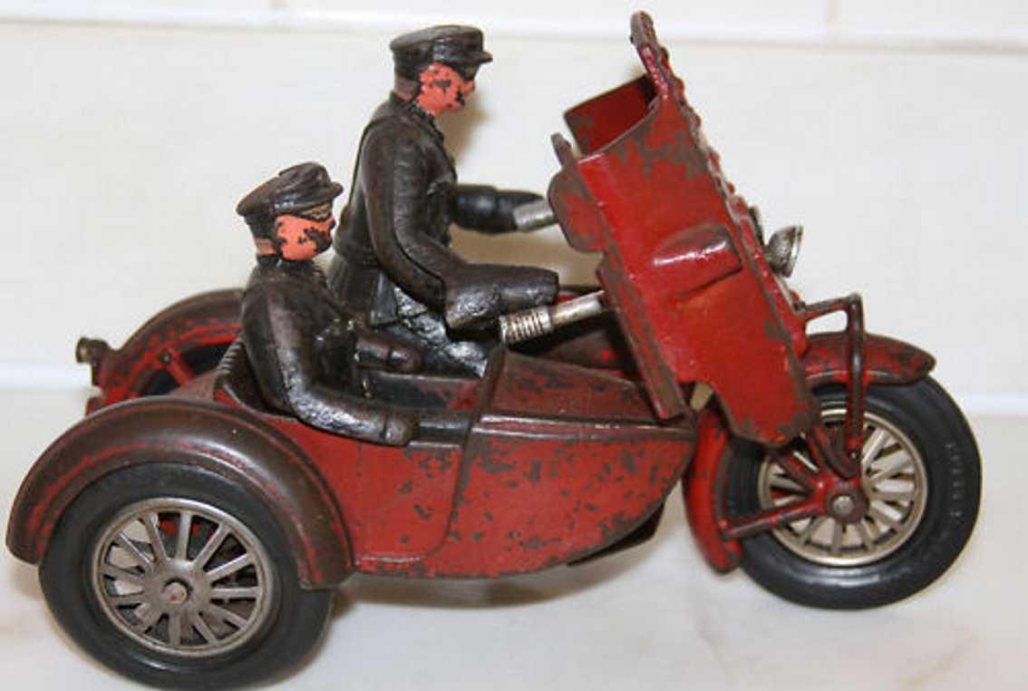 hubley 13 spielzeug gusseisen bewaffnetes motorrad zwei zylinder