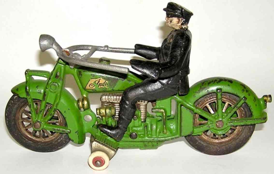 hubley 16 spielzeug gusseisen gusseisen indian motorrad gruen