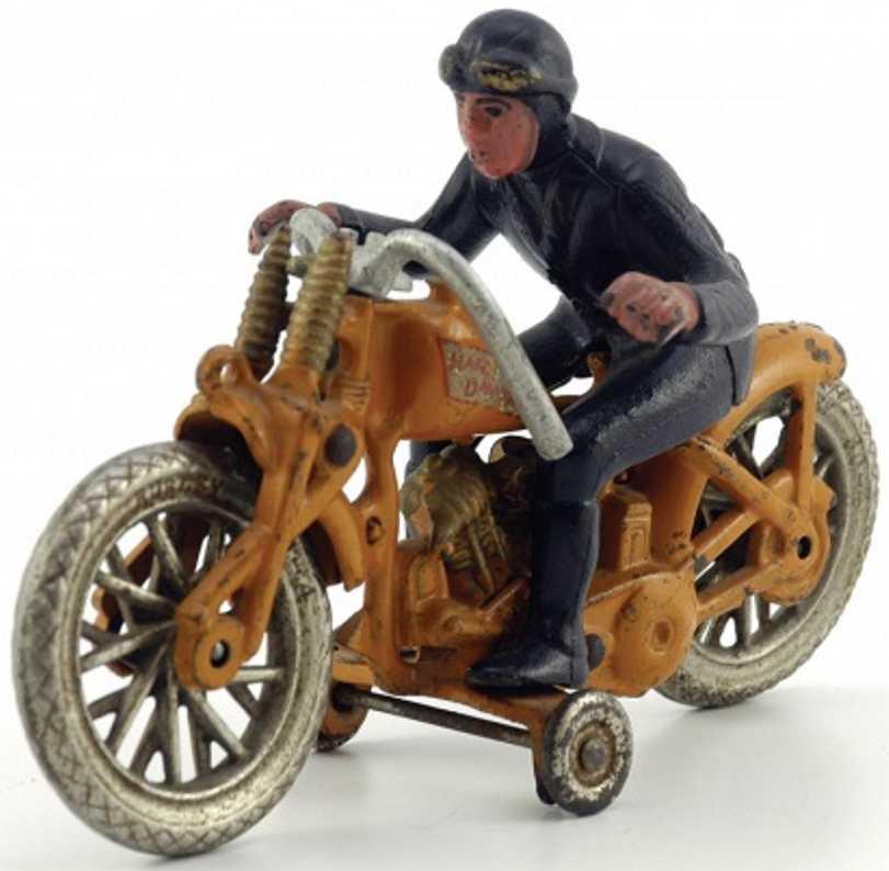 hubley spielzeug gusseisen motorrad mit fahrer
