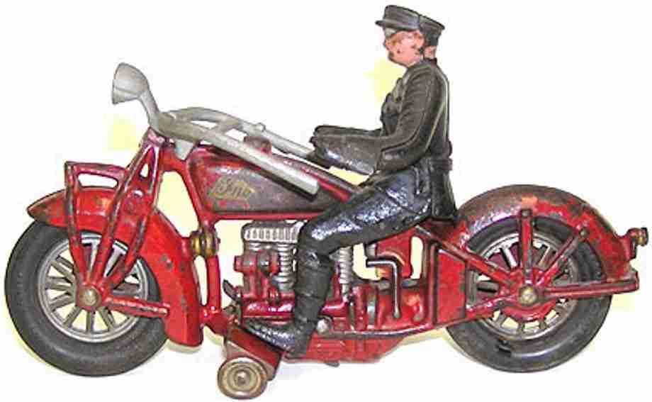 hubley spielzeug gusseisen motorrad 4-zylinder motorradfahrer