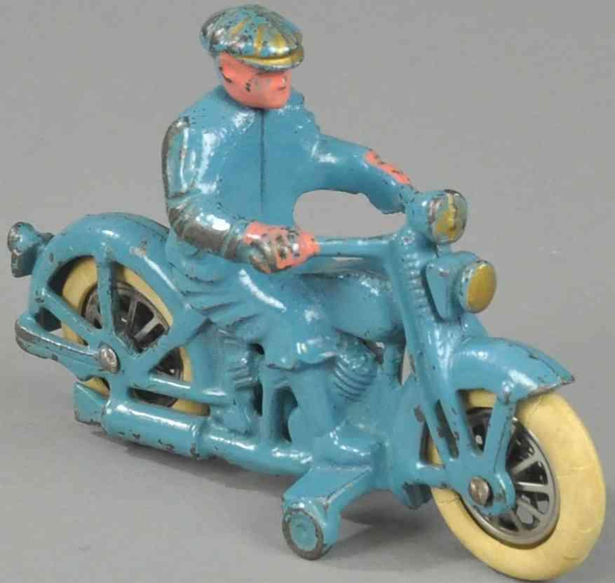 hubley spielzeug gusseisen motorrad harley davidson blau